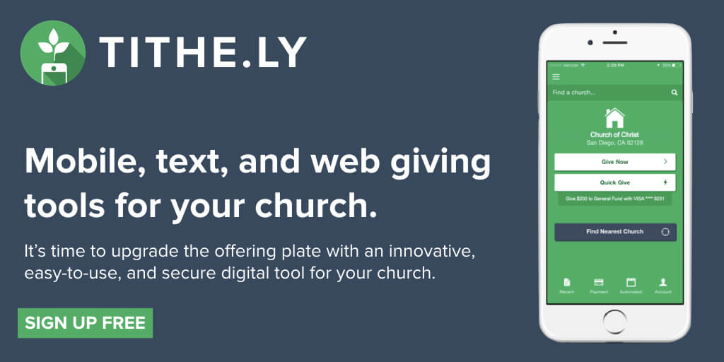 Get the best church app at Tithely