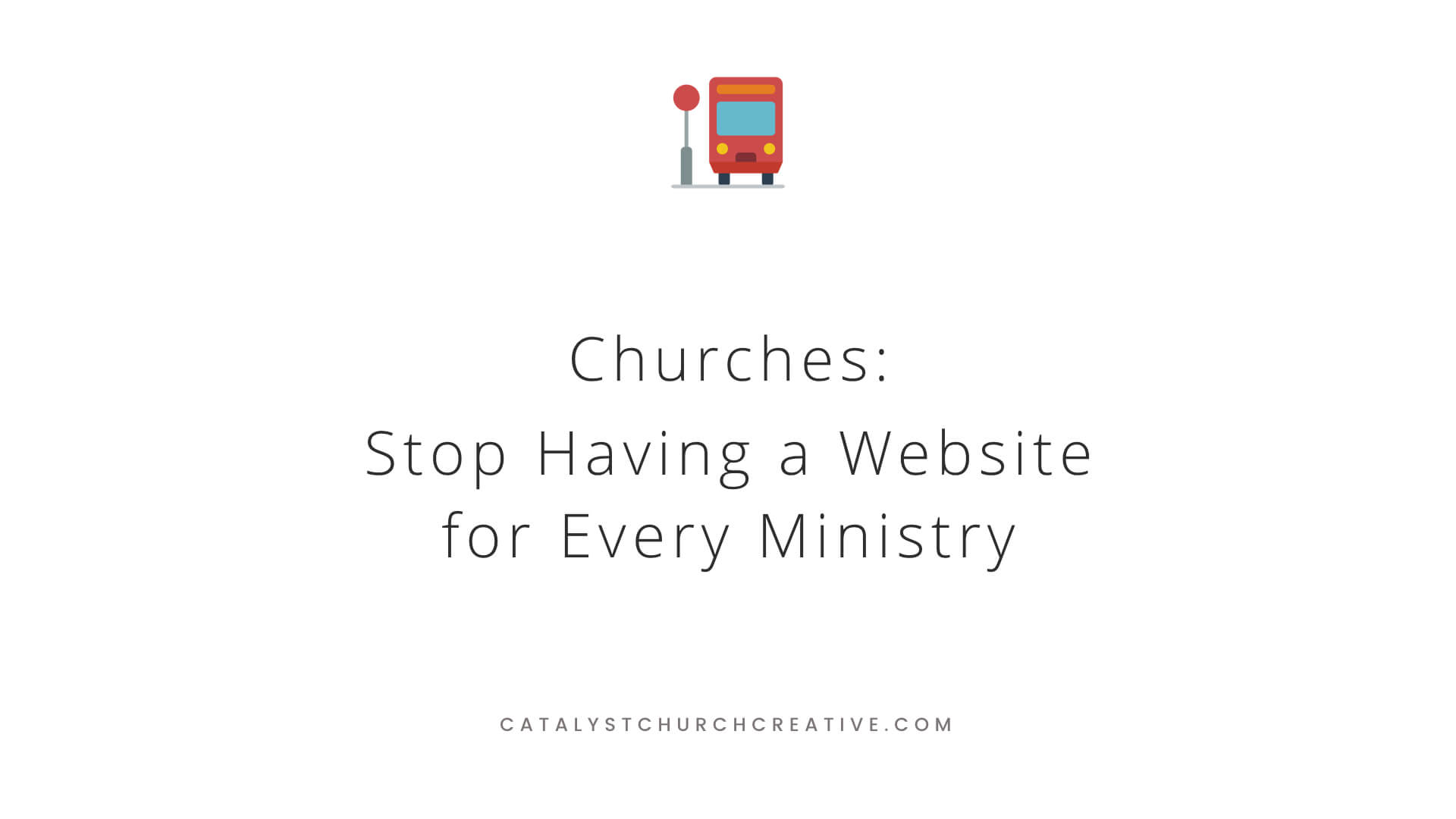 Churches can and should get better at developing multi-site websites.